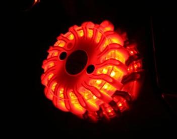 Powerflare LED Akku Warnleuchte in rot